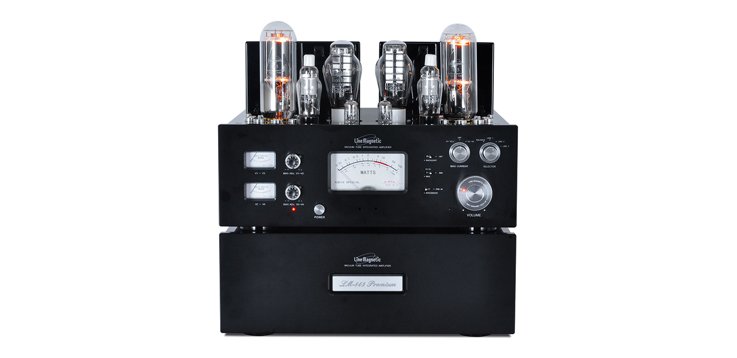 LM-845 Premium - Vacuum tube integrated amplifier - Single